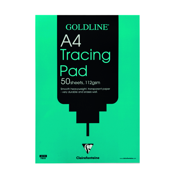 Clairefontaine Goldline Heavyweight Tracing Pad 112gsm A4 50 Sheets GPT3A4