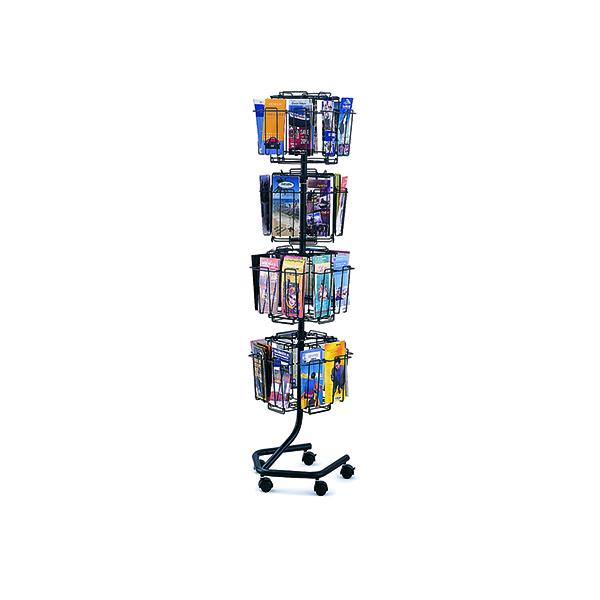 Safco Rotating Floor-Standing Display Unit 32x1/3xA4/DL Pockets 4128CH