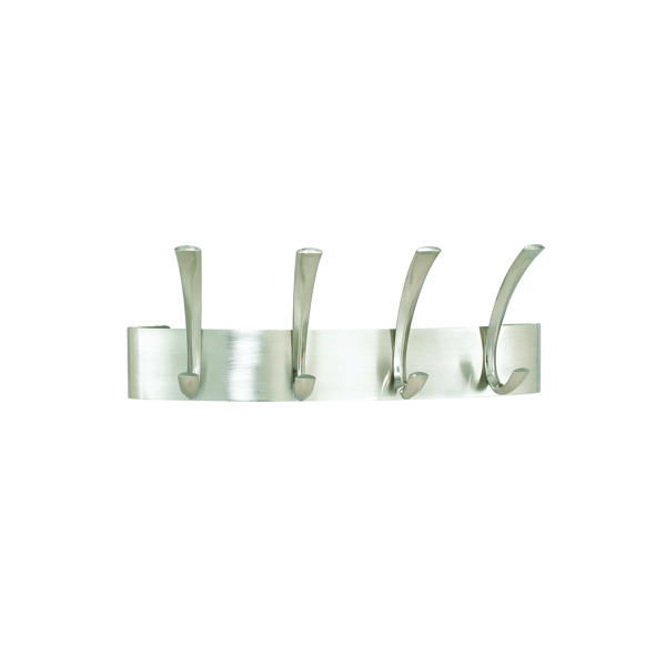 Safco Curve 4-Hook Coat Rack Silver 4205Sl