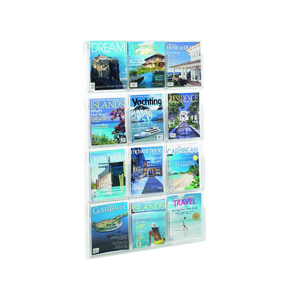 Safco 12 Pocket Deluxe Magazine Presenter 5602CL