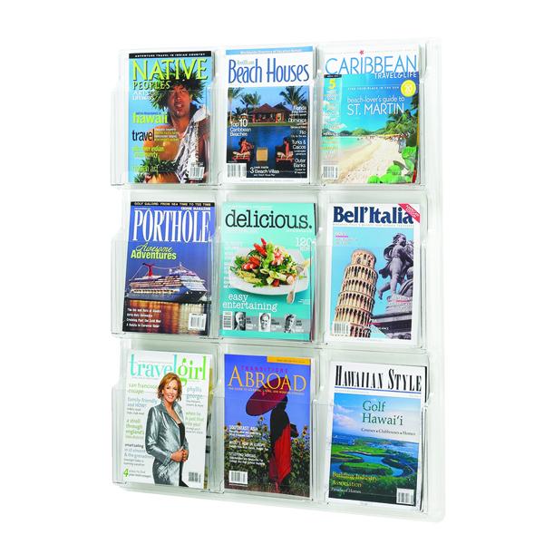 Safco 9 Pocket Deluxe Magazine Presenter A4 5603CL