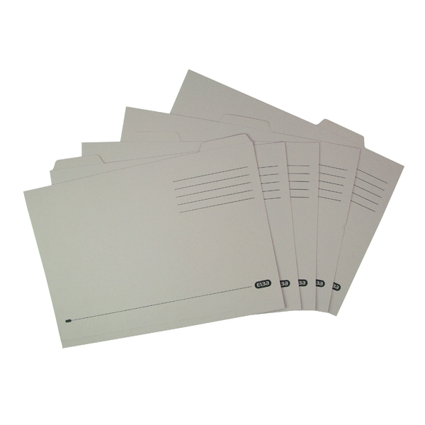 Elba Tabbed Folder Economy 170gsm Foolscap Buff (100 Pack) 100090124