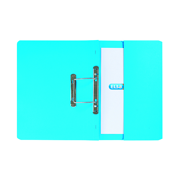 Elba Stratford Spring Pocket File 320gsm Foolscap Blue (25 Pack) 100090146