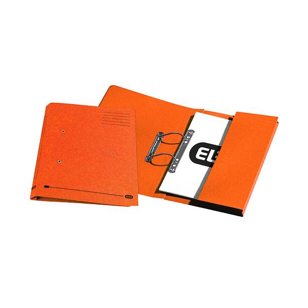Elba Stratford Spring Pocket File 320gsm Foolscap Orange (25 Pack) 100090148