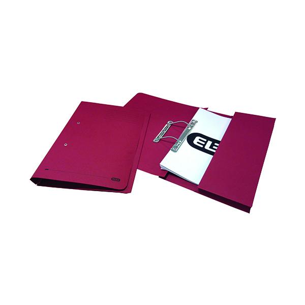 Elba Stratford Spring Pocket File 320gsm Foolscap Bordeaux (25 Pack) 100090149