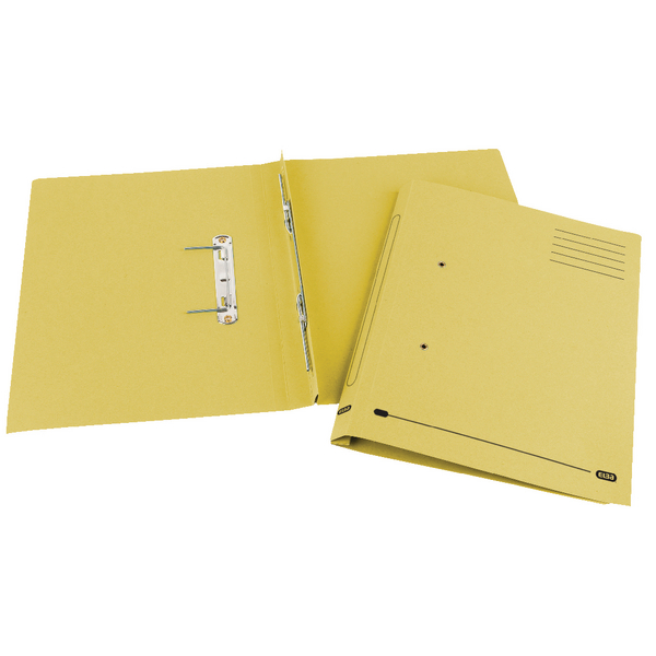 Elba Spirosort Spring Files Foolscap Yellow (25 Pack) 100090163