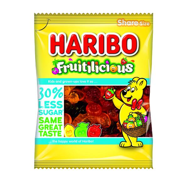 Haribo Fruitilicious Bag Reduced Sugar 140g (12 Pack) 49077