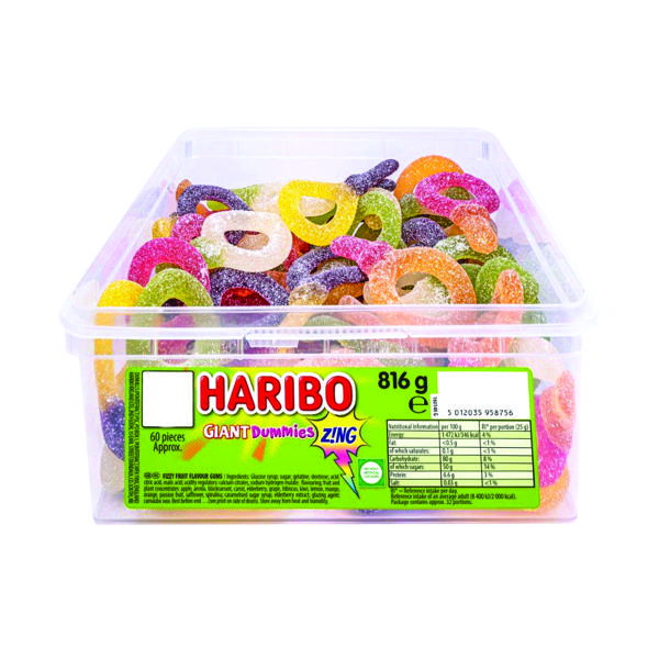 Haribo Giant Dummies Zing Tub 13444