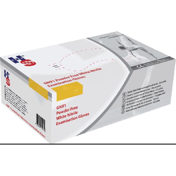 Handsafe Nitrile Powder-Free Gloves Small White (2000 Pack) GN92S