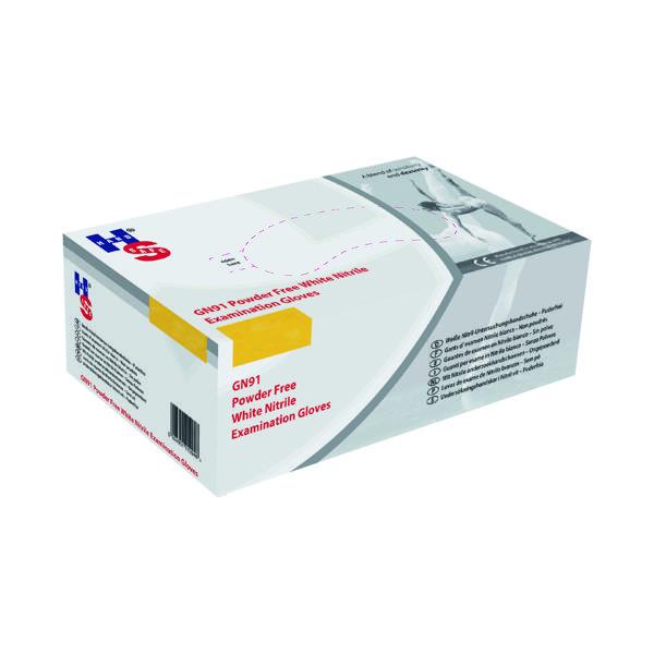 Handsafe Nitrile Powder Free Gloves Large White (2000 Pack) GN92L