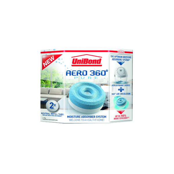 UniBond Aero 360 Moisture Absorber Large Refill (2 Pack) 1554715