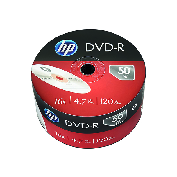 HP DVD-R 16X 4.7GB Wrap (50 Pack) 69303