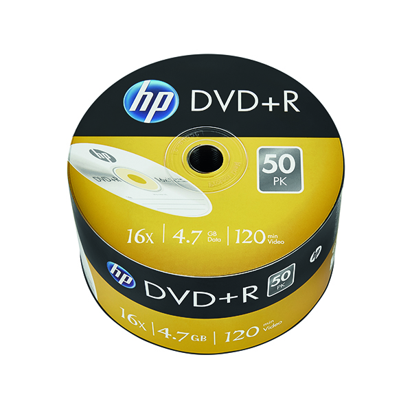 HP DVD+R 16X 4.7GB Wrap (50 Pack) 69305