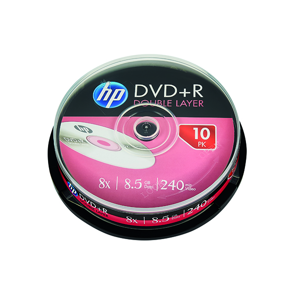 HP DVD+R DL 8X 8.5GB Spindle (10 Pack) 69309