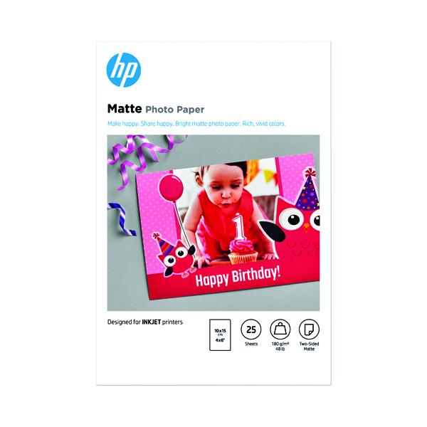 HP Matte FSC Photo Paper 4x6 Inch (25 Pack) 7HF70A