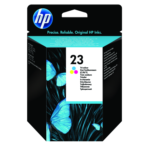 HP 23 Cyan/Magenta/Yellow Inkjet Cartridge C1823D