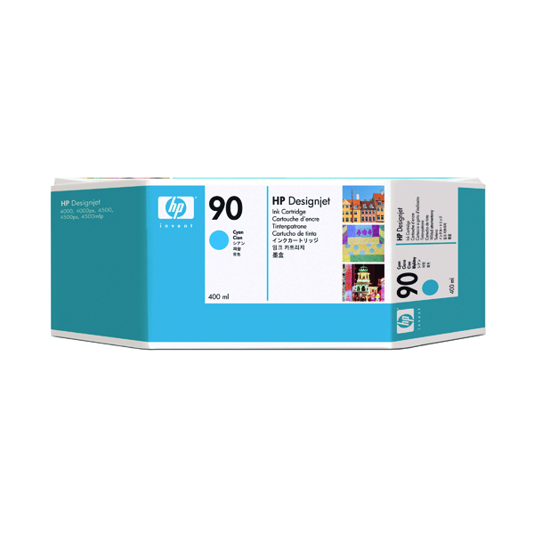 HP 90 Cyan Inkjet Print Cartridge C5061A