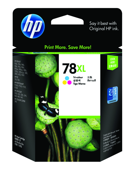 HP 78XL Cyan/Magenta/Yellow High Yield Inkjet Cartridge C6578A