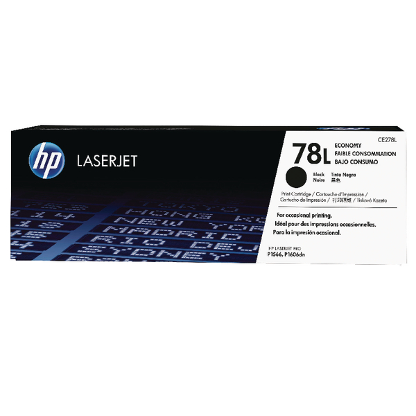 HP 78L Black Economy Toner Cartridge CE278L