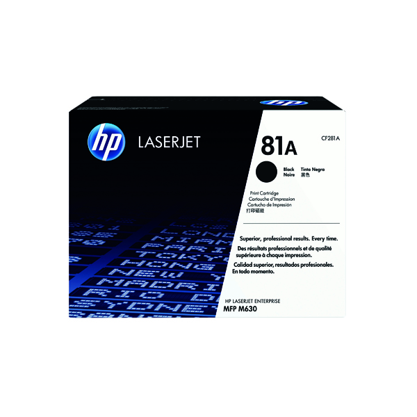 HP 81A Black LaserJet Cartridge CF281A