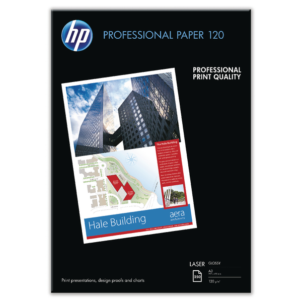 HP White A3 Professional Glossy Laser Paper (250 Pack) CG969A