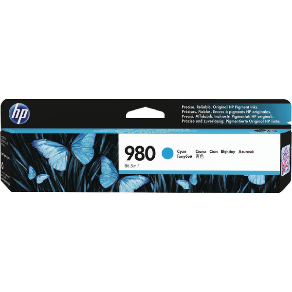 HP 980 Cyan Inkjet Cartridge D8J07A
