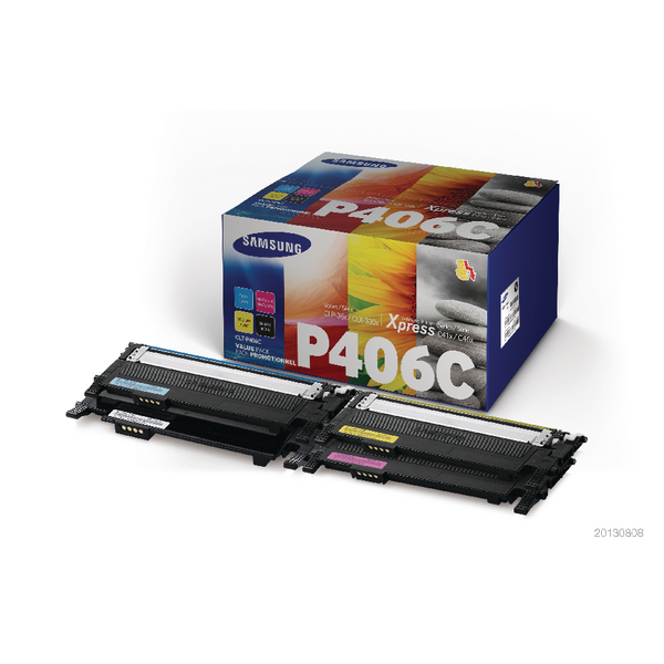 Samsung CLT-P406C 4-Pack CYMK Standard Yield Toner Cartridges (4 Pack) SU375A