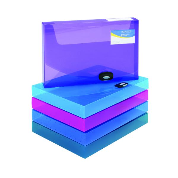 Rapesco Rigid Wallet Box File 40mm A4 Assorted (5 Pack) 1048