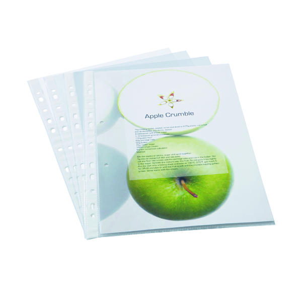Rapesco Eco Punched Pockets A4 Clear (100 Pack) 1104
