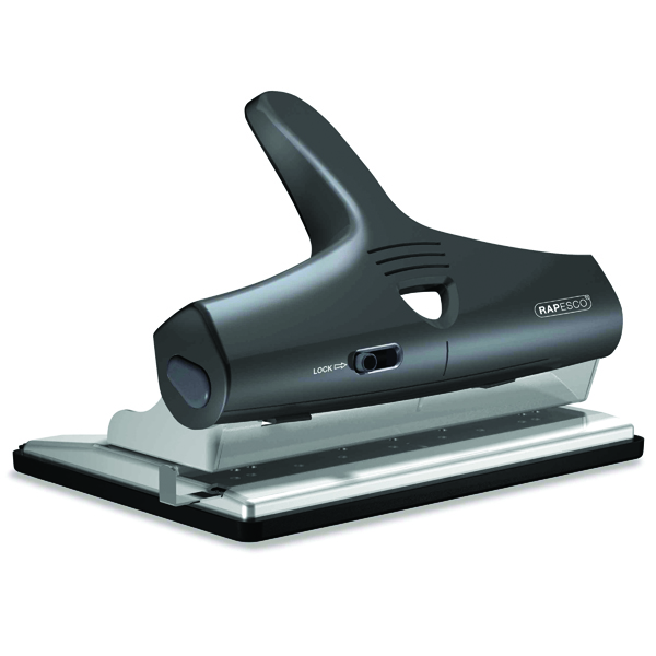 Rapesco Adjustable Heavy Duty Punch Black PF95G2B2