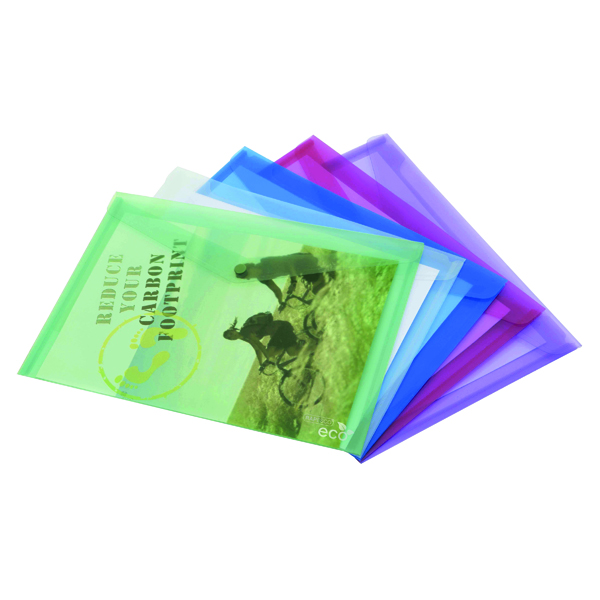 Rapesco Eco PP Popper Wallet A3 Assorted (5 Pack) 1041