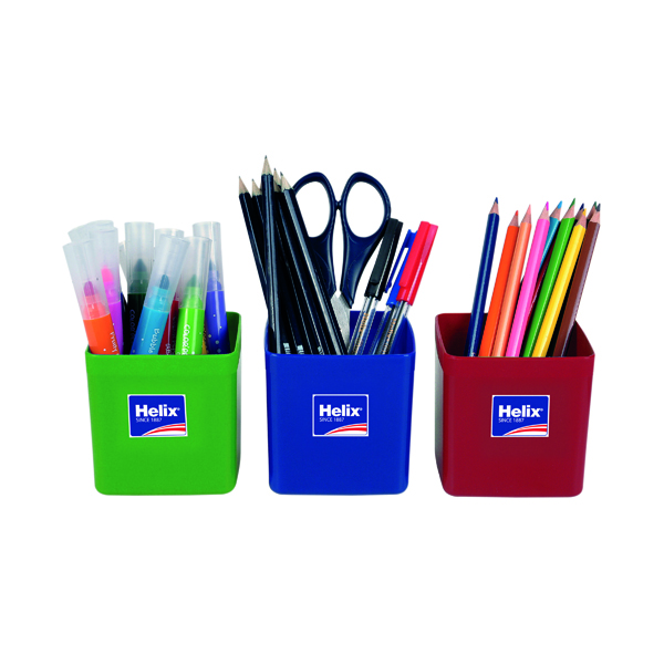 Helix Pencil Pots Assorted (12 Pack) 753810