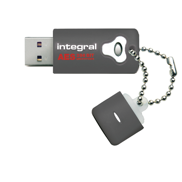 Integral Crypto Encrypted 16GB Grey USB Flash Drive INFD16GCRYPTO197