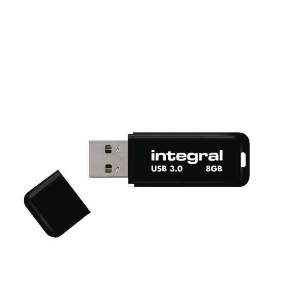 Integral Black Noir 8GB USB 3.0 Flash Drive INFD8GBNOIR3.0