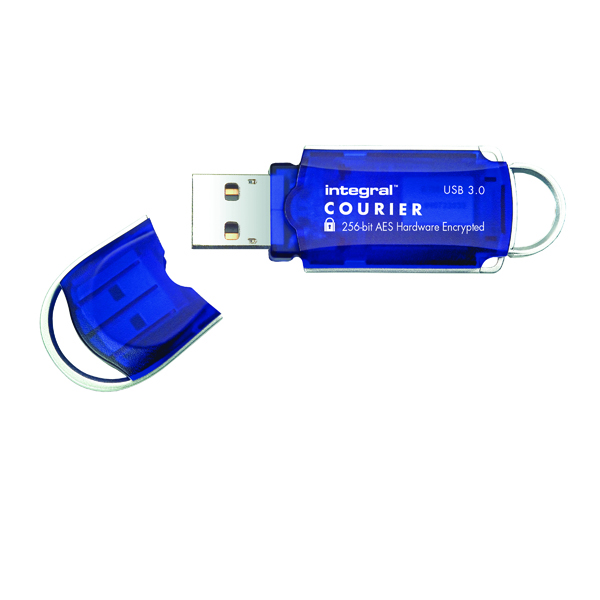 Integral Courier Encrypted USB 3.0 32GB Flash Drive INFD32GCOU3.0-197