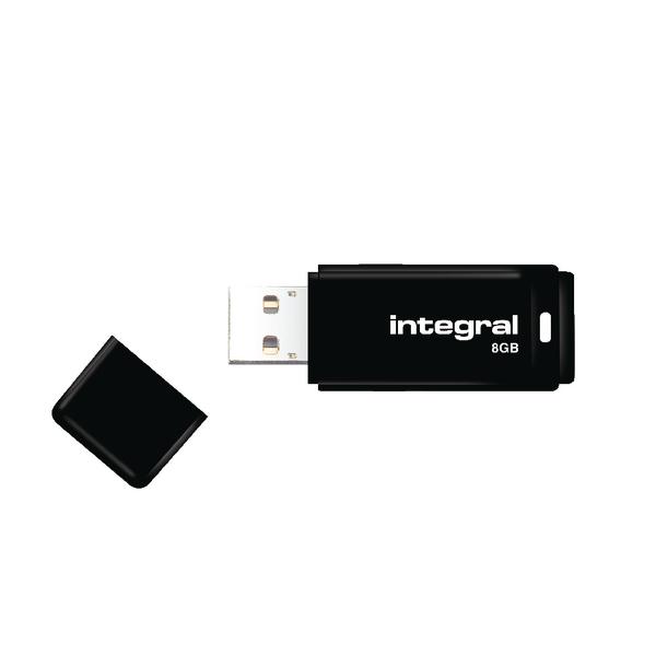 Integral Black USB 2.0 8Gb Flash Drive INFD8GBBLK