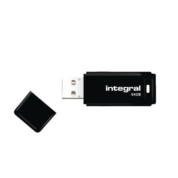 Integral Black USB 2.0 64Gb Flash Drive INFD64GBBLK