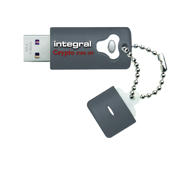 Integral Crypto Encrypted USB 3.0 64GB Flash Drive INFD64GCRY3.0197
