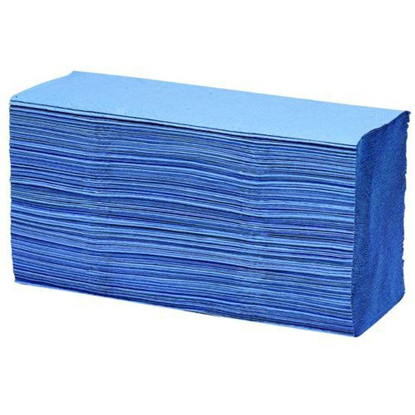 Initiative Paper Towels C-Fold Blue Pack 2688 (16 packs of 168) 90mmx230mm