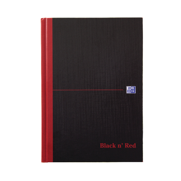 Black n' Red A5 Casebound Hardback Single Cash Book (5 Pack) 100080414