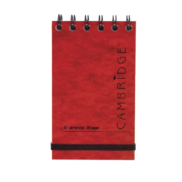 Cambridge Elasticated Red Notebook 76 x 127mm (10 Pack) 100080421