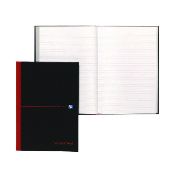 Black n Red Casebound Notebook A4 192 Pages (Pack of 5) Buy 1 Get 1 Free JD831008