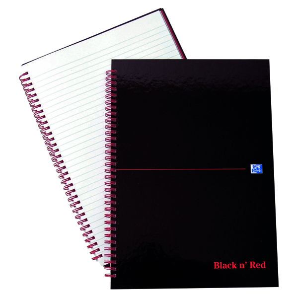 Black n' Red A4 Wirebound Hardback Notebook Ruled (5 Pack) 846350115