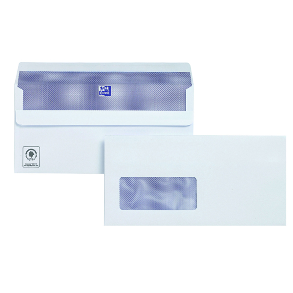 Plus Fabric DL Window Envelope 110gsm Self Seal White (250 Pack) C23370