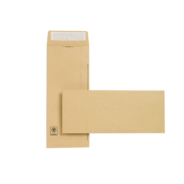 New Guardian Envelope 305x127mm Pocket Peel and Seal Easy Open 130gsm Manilla (250 Pack) C27603