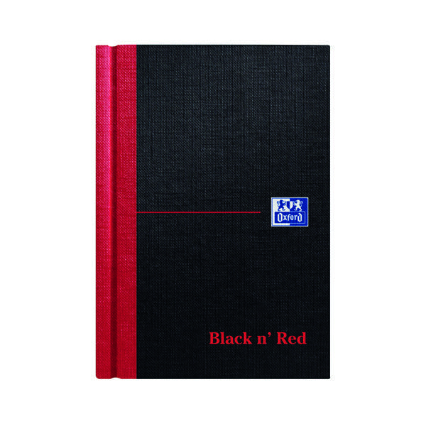 Black n' Red Casebound Hardback Notebook 192 Pages A6 (5 Pack) 100080429