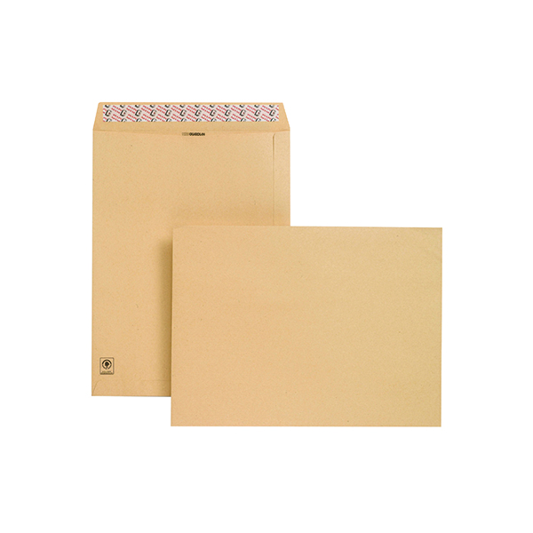 New Guardian Envelope 406x305mm Pocket Peel and Seal 130gsm Manilla (125 Pack) D23703