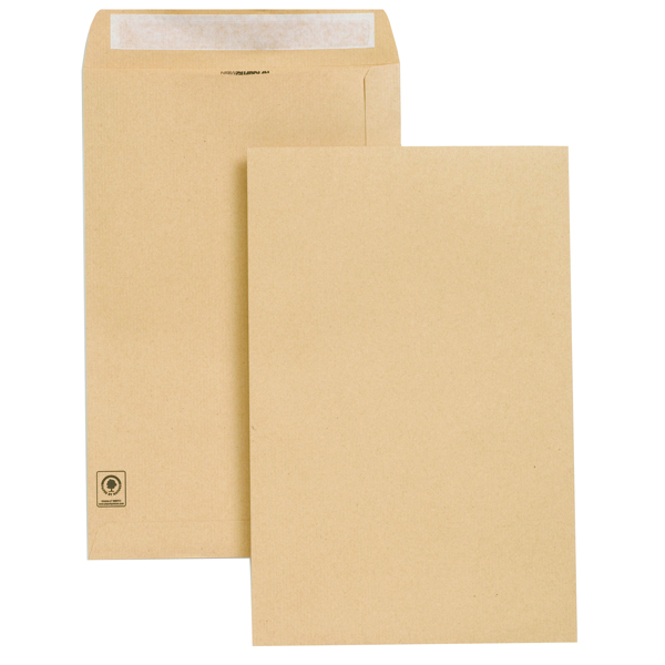 New Guardian Envelope 353x229mm Pocket Peel and Seal Easy Open 130gsm Manilla (250 Pack) E27303