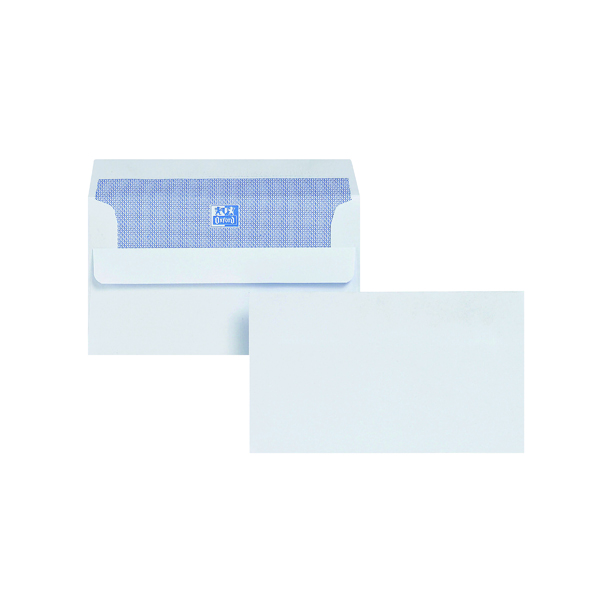 Plus Fabric Envelope 89x152mm Wallet Self Seal 120gsm White (500 Pack) F21870