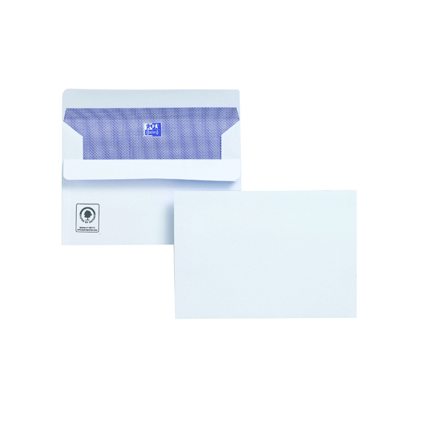 Plus Fabric C6 Envelope Wallet Self Seal 120gsm White (500 Pack) F23470